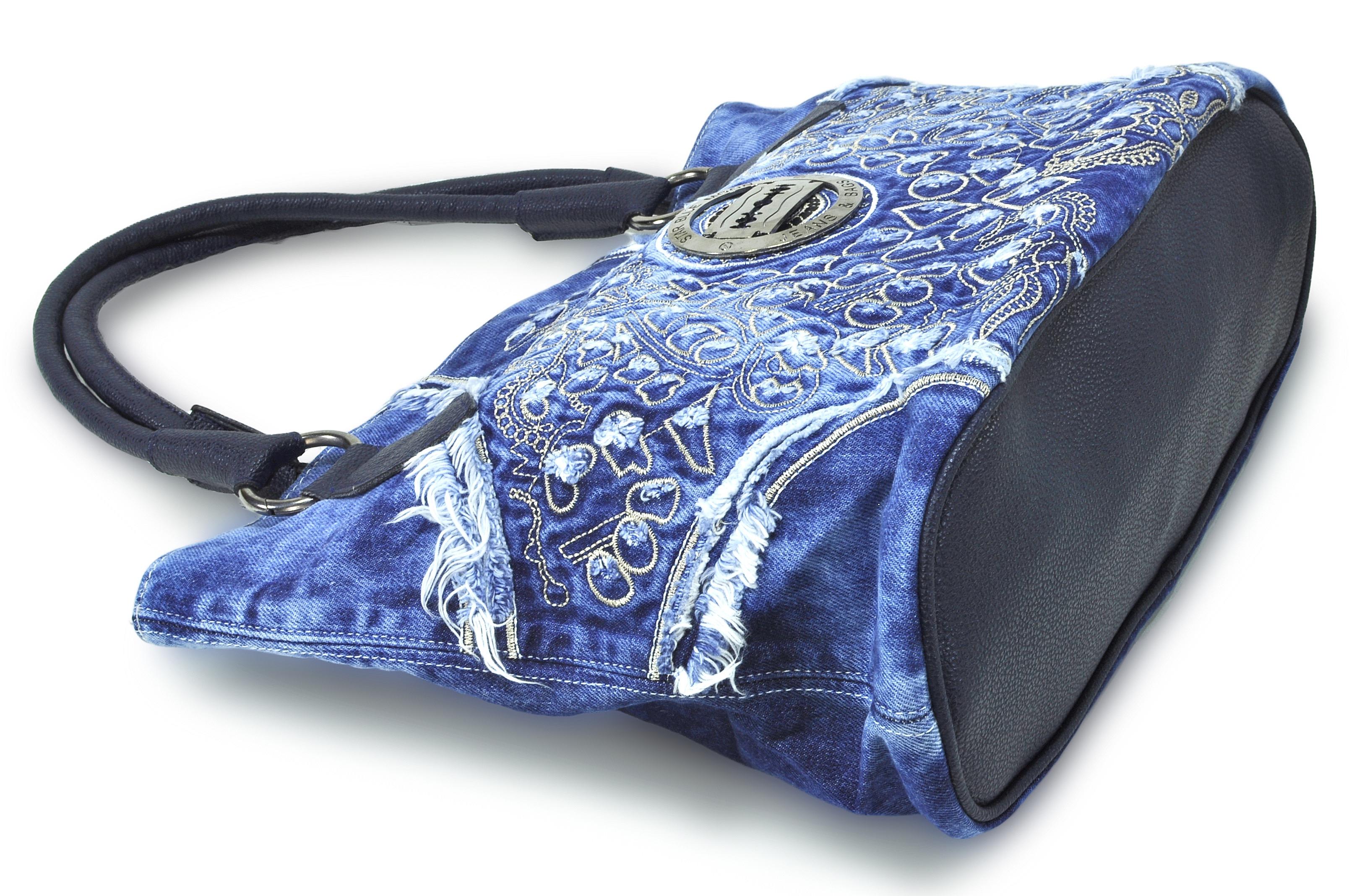 Luxusní riflová kabelka MUENTES 5bc06841a73